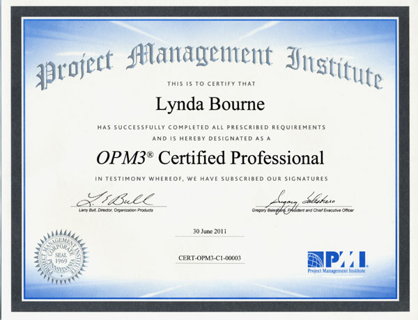 OPM3 Certified Professional