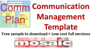 Communication management template